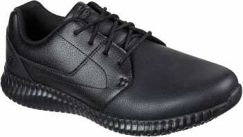 SKECHERS Work SK200063BLK Cessnock Lival, Men's, Black, Soft Toe, Slip Resistant Oxford