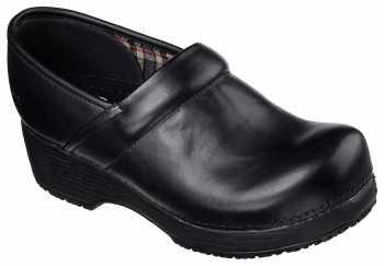Skechers SK76501BLK, Women's, Soft Toe, EH, Slip Resistant Clog