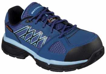 SKECHERS Work SK76586NVBL Conroe-Kriel Women's, Navy/Blue, Alloy Toe, SD, Sport Oxford