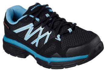SKECHERS Work Conroe Abbenes, Women's, Black/Blue/, Soft Toe, SD Athletic