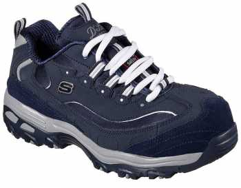 SKECHERS Work SK76596NVCC Pooler Women's, Navy/Charcoal, Alloy Toe, EH, Sport Oxford