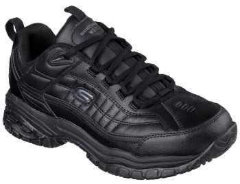 Skechers SK76759BLK Soft Stride-Galley, Men's, Black, Soft Toe, Slip Resistant Athletic