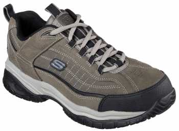 SKECHERS Work SK76760CHAR Men's, Charcoal, Steel Toe, EH, Slip Resistant Athletic