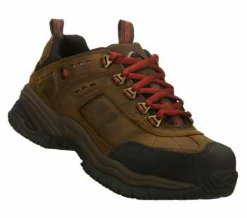 SKECHERS Work SK76852CDB Men's Soft Stride -Constructor Brown, Steel Toe, EH, Slip Resistant, Casual Athletic