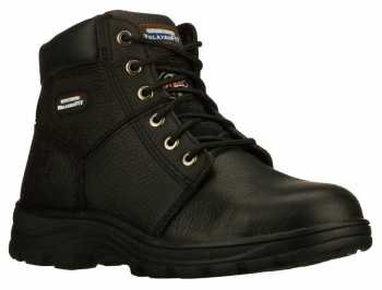 SKECHERS Work SK77009BLK Men's Relaxed Fit Workshire ST, Black, Steel Toe, EH, 6 Inch Boot