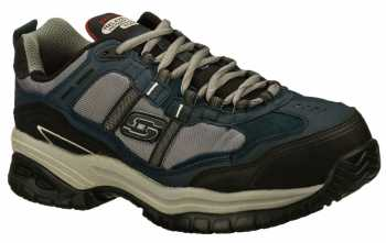Skechers SK77013NVGY Grinnell Men's, Navy/Grey, Comp Toe, EH, Low Athletic