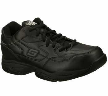 Skechers SK77032 Felton-Altair Men's, Black, Soft Toe, Slip Resistant Athletic