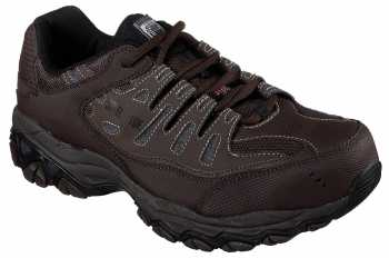 Skechers SK77055BRN Crankston, Men's, Brown, Steel Toe, EH, Low Athletic