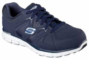 SKECHERS Work SK77068NVY Synergy-Ekron, Men's, Navy, Alloy Toe, EH, Athletic Oxford