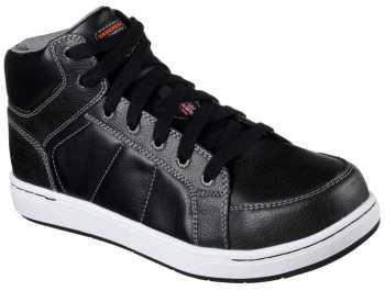 Skechers SK77149BLK Men's Black, Steel Toe, EH, Hi Top Athletic