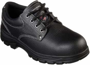 SKECHERS Work SK77164BLK Workshire-Tydfil, Men's, Black, Steel Toe, EH, PR Oxford