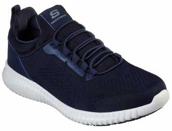 SKECHERS Work SK77188NVY Cessnock, Men's, Navy/White, Soft Toe, EH, Slip Resistant Casual
