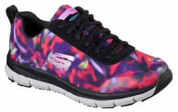 SKECHERS Work Work SK77217BKMT Black/Multi Comfort Flex Pro HC Soft Toe, Slip Resistant Women's Athletic