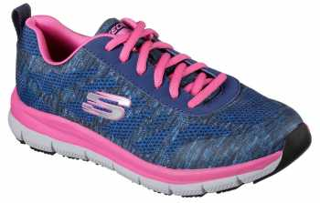 SKECHERS Work Work SK77217NVPK Navy/Pink Comfort Flex Pro HC Soft Toe, Slip Resistant Women's Athletic