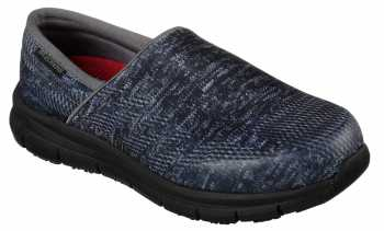 SKECHERS Work SK77239BBK Comfort Flex Pro, Women's, Black, Soft Toe Slip On