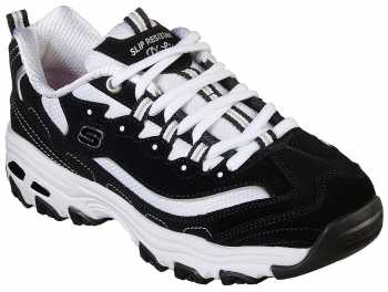 SKECHERS Work SK77263BKW D'Lites, Women's, Black/White, Soft Toe Athletic