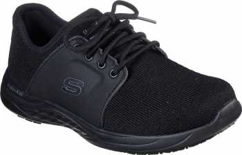 Skechers SK77265BLK Toston-Auley, Black, Soft Toe, WP, Slip Resistant Oxford