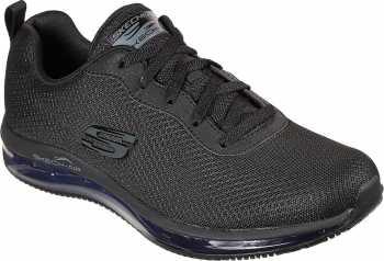 SKECHERS Work SK77274BLK Skech-Air, Women's, Black, Soft Toe, Slip Resistant, Low Athletic