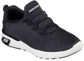 SKECHERS Work SK77281BKW Marsing-Waiola, Women's, Black/White, Soft Toe, Slip Resistant Athletic