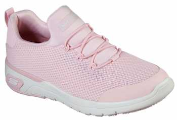 SKECHERS Work SK77281LTPK Marsing-Waiola, Women's, Light Pink/White, Soft Toe, Slip Resistant Athletic