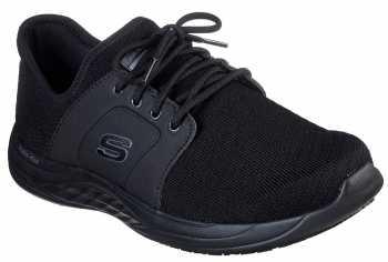 skechers for work men's soft stride mavin slip resistant athletic oxford