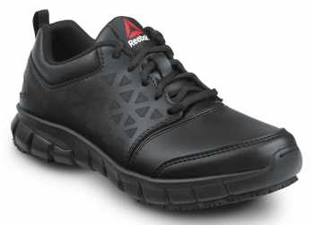 Reebok Work SRB035 Sublite Cushion Work, Black, Women's, Athletic Style Slip Resistant Soft Toe Work Shoe