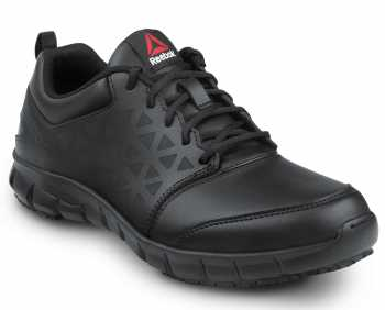 Reebok Work SRB3206 Sublite Cushion Work, Black, Men's, Athletic Style Slip Resistant Composite Toe, EH, Work Shoe