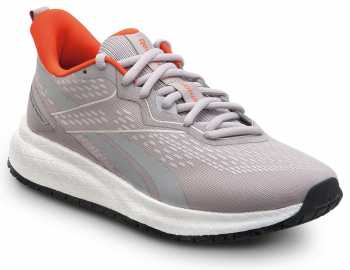 Reebok Work SRB336 Floatride Energy, Women's, Grey/Peach, Athletic Style Slip Resistant Soft Toe Work Shoe