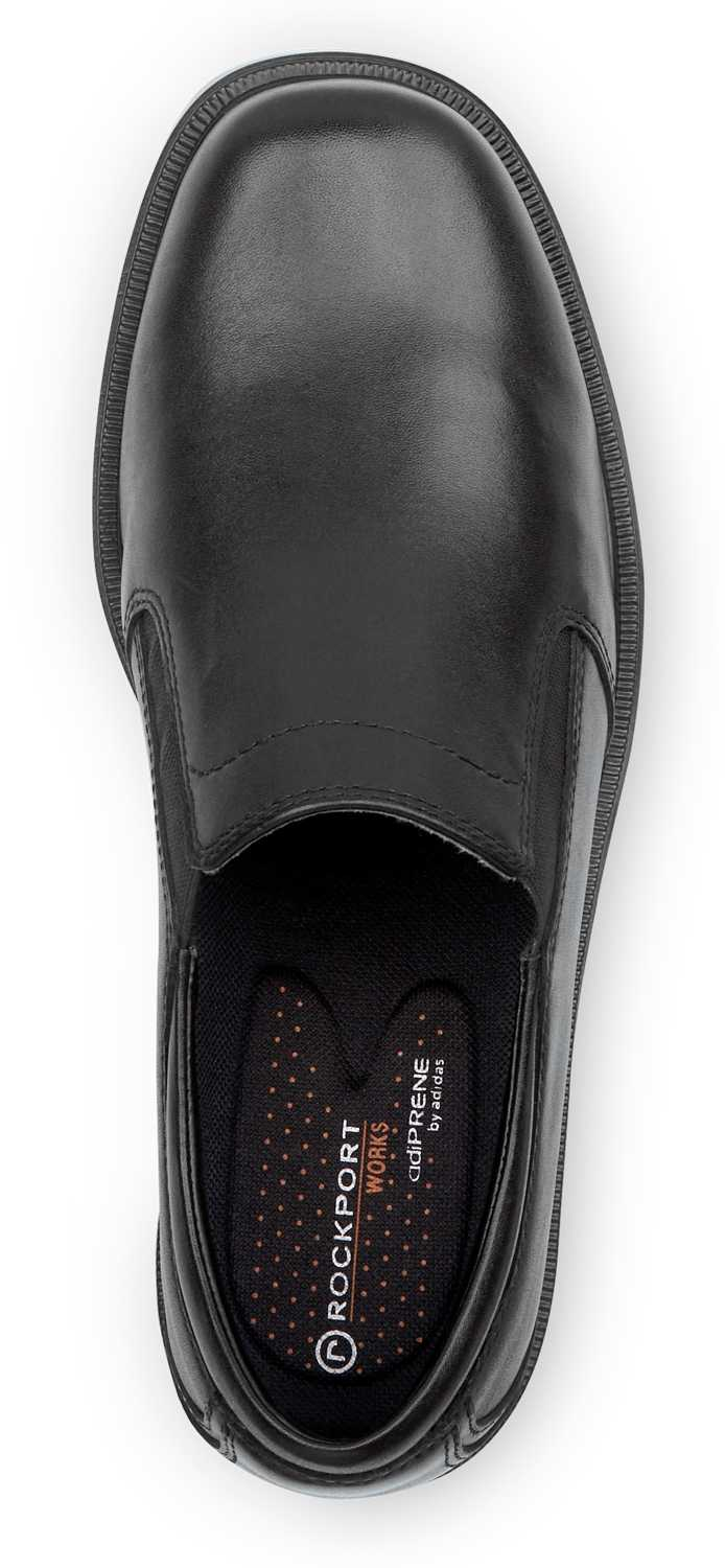 Rockport Works SRK6595 Men's Black Soft Toe, MaxTrax Slip Resistant, Twin Gore Slip On