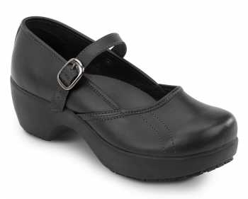 SR Max SRM136 Vienna Women's Black Mary Jane Clog Style Slip Resistant Soft Toe Work Shoe