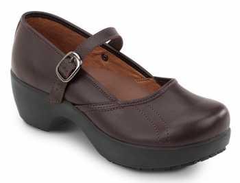 SR Max SRM138 Vienna Women's Brown Mary Jane Slip Resistant Clog
