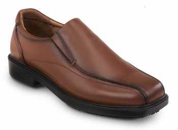 SR Max SRM3090 Brooklyn Men's Brown, Twin Gore, Soft Toe, Slip Resistant Slip On