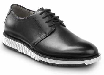 SR Max SRM3310 Beaufort, Men's, Black/White, Dress Style Soft Toe Slip Resistant Work Shoe