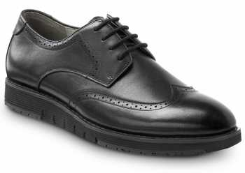 SR Max SRM3390 Durham, Men's, Black, Wingtip Dress Style Soft Toe Slip Resistant Work Shoe