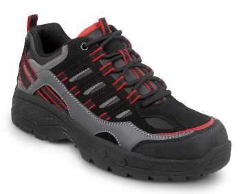 SR Max SRM4600 Boone, Men's, Black/Grey, Low Hiker Style Comp Toe, EH, Slip Resistant Work Shoe