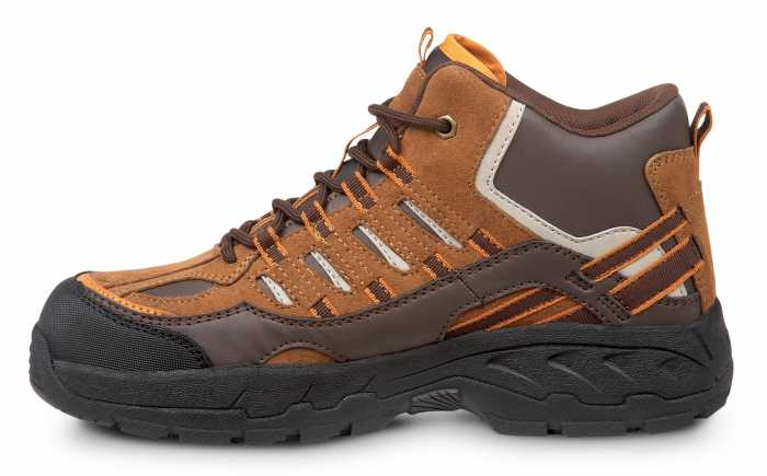 SR Max SRM4750 Boone, Men's, Brown, Hiker Style Comp Toe, EH, Slip Resistant Work Shoe