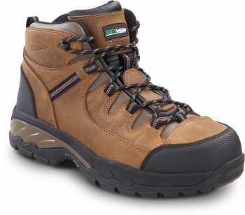 SR Max SRM4760 Winston, Men's, Brown, Hiker Style Comp Toe EH, Slip Resistant Work Shoe