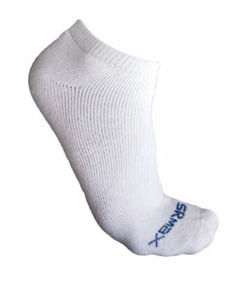 SR Max SRM5214CWHT Mens White Comfort Low Cut Socks - 3 Pair Pack