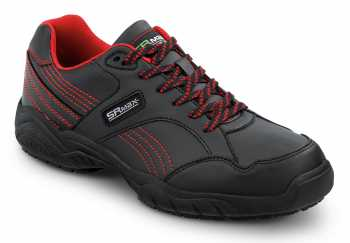 SR Max SRM611 Corbin Women's, Black/Red, Soft Toe, Slip Resistant Athletic