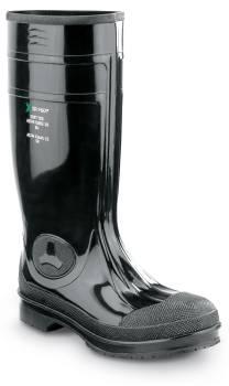 SR Max SRM8200 Seward, Unisex, Black, Steel Toe, EH, Waterproof, Slip Resistant 16 Inch PVC Work Boot