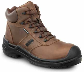 SR Max SRM9160 Lewiston, Men's, Brown, Comp Toe, EH, Waterproof, Slip Resistant 6 Inch Work Boot