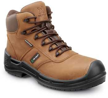SR Max SRM9160 Lewiston, Men's, Brown, Comp Toe, EH, Waterproof, Slip Resistant 6 Inch Work Boot