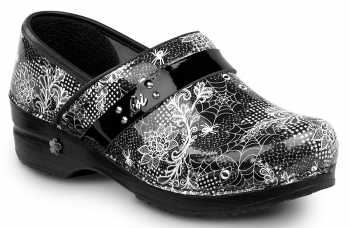 Sanita SSA0736B Samantha, Women's, Black/White, Soft Toe, Slip Resistant Clog