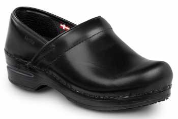 Sanita SSA8006WB London, Women's, Black, Soft Toe, Slip Resistant Clog
