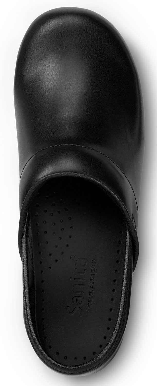 Sanita SSA8006WB London, Women's, Black, Soft Toe, Slip Resistant Clog