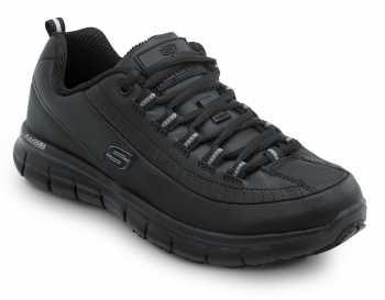 Skechers SSK403BLK Sara Black Soft Toe, Slip Resistant, Low Athletic
