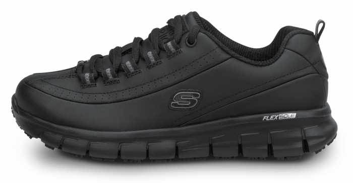SKECHERS Work SSK403BLK Sara Black Soft Toe, Slip Resistant, Low Athletic