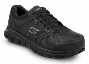SKECHERS Work SSK406BLK Jackie Black, Aluminum Alloy Toe, EH, Athletic