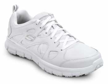 Skechers SSK605WHT David White Soft Toe, Slip Resistant, Low Athletic