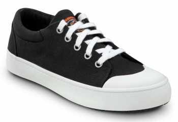 SKECHERS Work SSK8041BKW Kendall Black/White, Women's, Soft Toe, Slip Resistant Skate Shoe